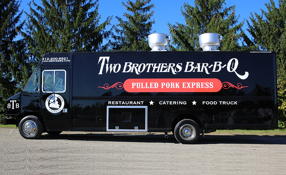 Two Brothers Bar-B-Q Food Truck Pulled Pork Express